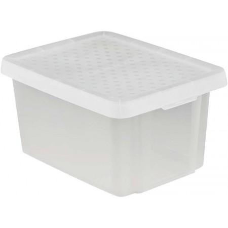 Plastová úložná bedna s víkem 16 l, tranparentní