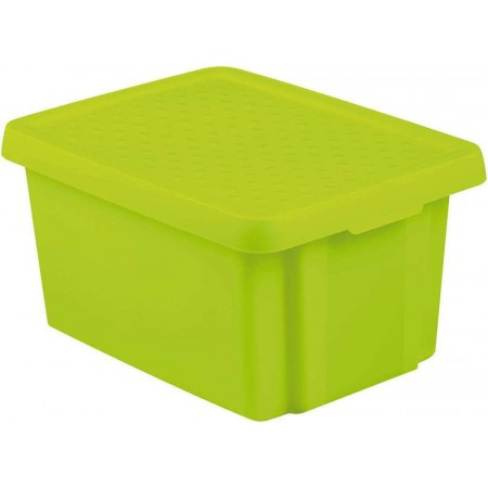 Plastová úložná bedna s víkem 16 l, zelená