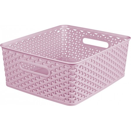 Úložný košík bez víka A4, růžový