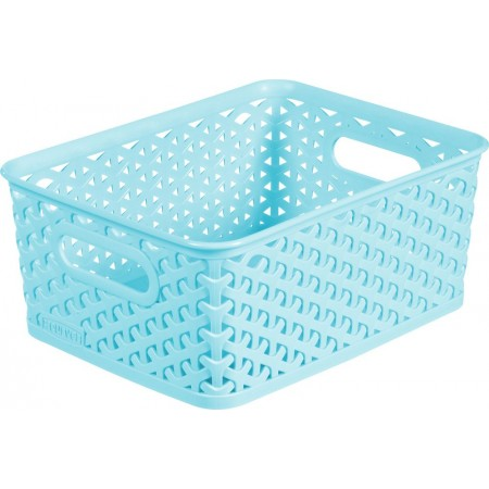 Úložný košík bez víka A5, modrý