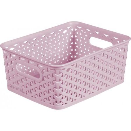 Úložný košík bez víka A5, růžový