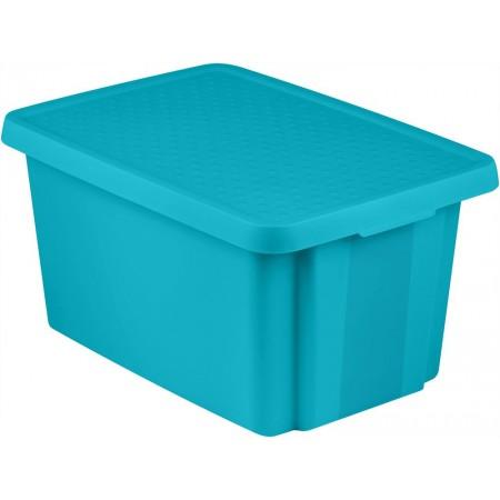 Velký úložný box s víkem 45 l, modrý