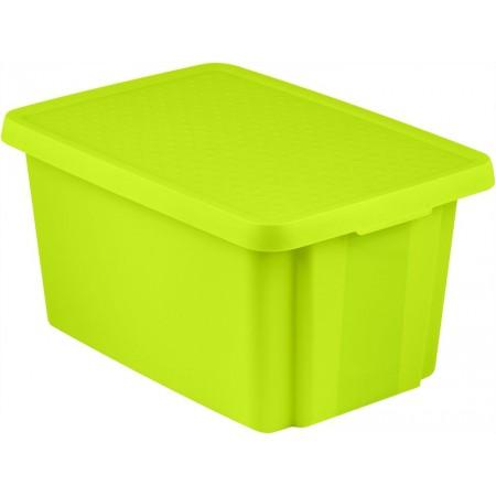 Velký úložný box s víkem 45 l, zelený