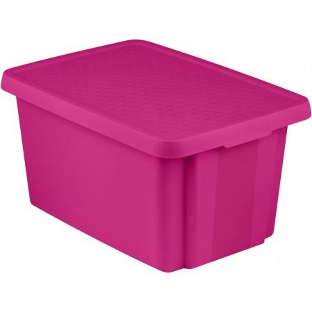 Velký úložný box s víkem 45 l, fialový