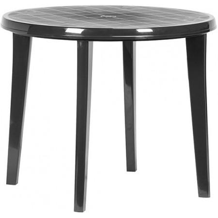 Plastový kulatý stůl, odnímatelné nohy, grafit