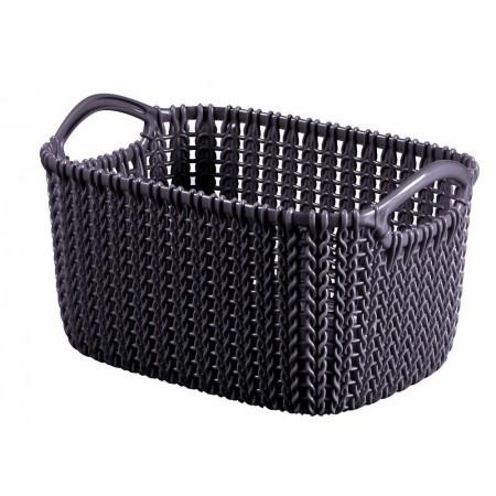 Plastový okrasný košík na drobnosti 3 l, fialový