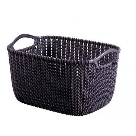 Plastový okrasný košík na drobnosti 8 l, fialový