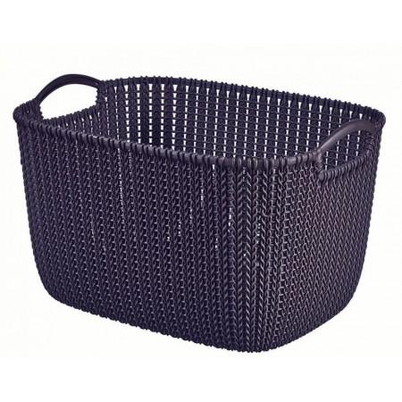 Plastový okrasný košík na drobnosti 19 l, fialový