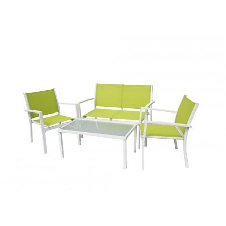 Kovový venkovní nábytek na terasu / balkon, textilní polstrování