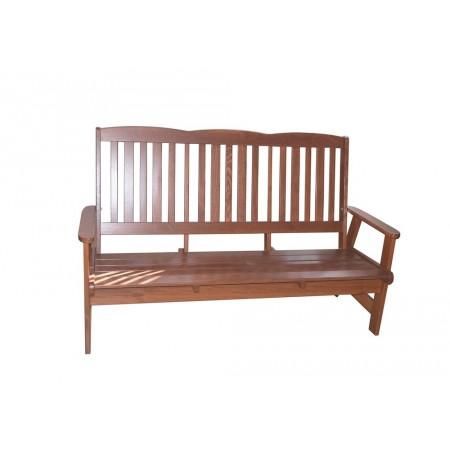 Zahradní dřevěná lavice pro 3 osoby, tmavě hnědá