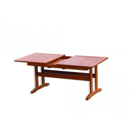 Masivní dřevěný stůl, obdélníkový, rozložitelný