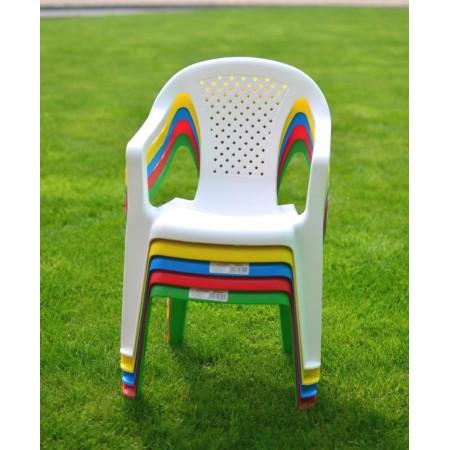 Malé dětské plastové křeslo- bílá, žlutá, zelená, červená. modrá
