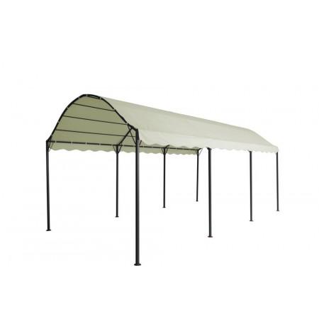 Zahradní altán obdélníkový 3x6 m, kovová konstrukce, slonová kost