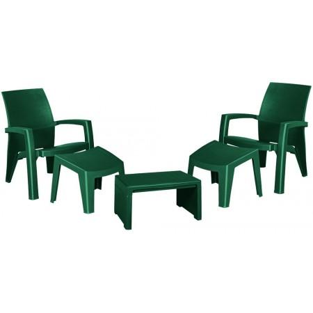 Zahradní plastový relaxační set, zelený