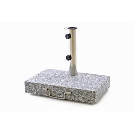 Masivní kamenný stojan po slunečník- obdélníkový, žula, 25 kg