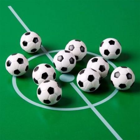 10 ks míčky pro stolní fotbálek 31 mm, vzhled fotbalového míče