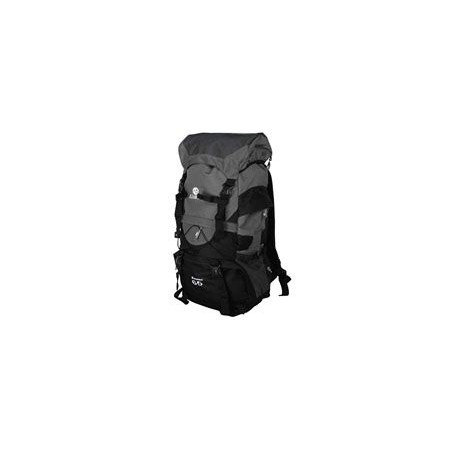 Velký turistický batoh 35 l, 2 komory, šedá / černá
