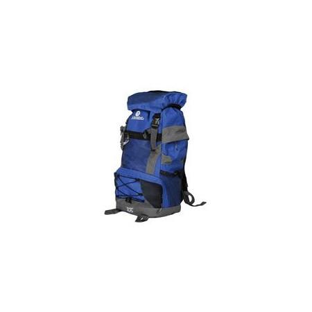 Velký turistický batoh 55 l, 2 komory, šedá / modrá