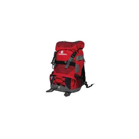 Velký turistický batoh 45 l, 2 komory, šedá / červená
