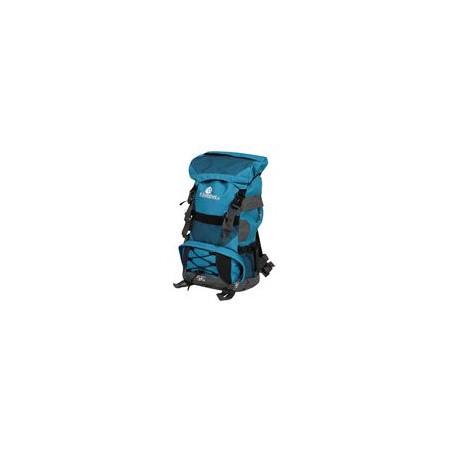 Velký turistický batoh 35 l, 2 komory, šedá / modrá