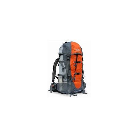 Turistický batoh 85 l, zádová ventilace, oranžová / šedá