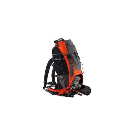 Velký turistický batoh 60 l, 2 komory, šedá / oranžová