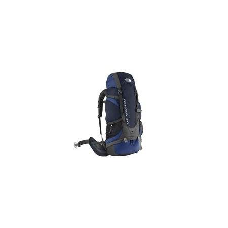Velký turistický batoh 40 l, 2 komory, šedá / tm. modrá