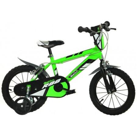 Dětské kolo pro kluky 16, stabilizační kolečka, zelené