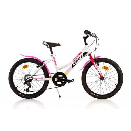 Dětské kolo pro dívky 20, bílá / růžová