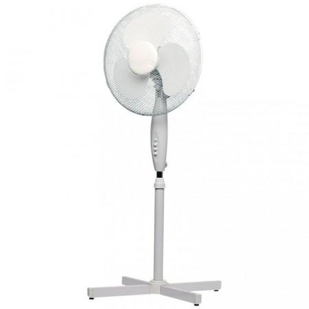 Velký stojanový ventilátor 120 cm, 3 rychlosti, bílý