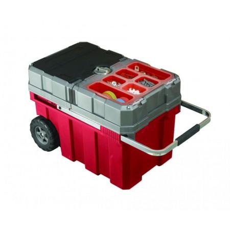 Velký kufr na nářadí s organizérem a kolečky 6 kg