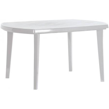Velký plastový obdélníkový stůl, odnímatelné nohy, světle šedý