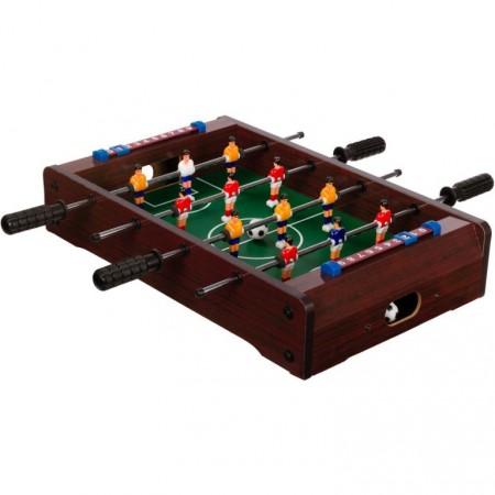 Malý dětský stolní fotbal na stůl, 51x31x8 cm, tmavě hnědý