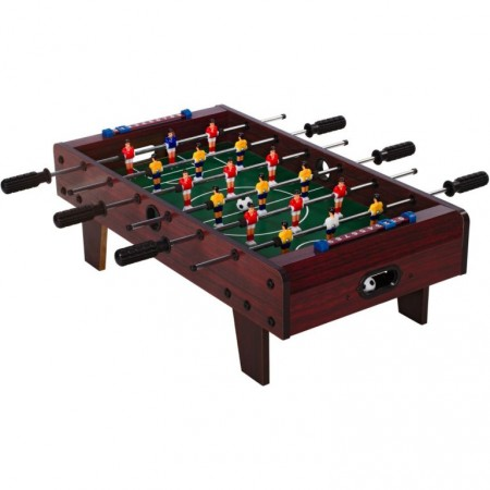 Malý dětský stolní fotbal na stůl, s nožičkami, 70x37x25 cm, tmavě hnědý
