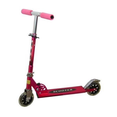 Dívčí skládací koloběžka, nastavitelná řidítka, růžová