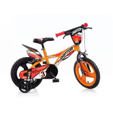 Dětské kolo Raptor 14 se stabilizačními kolečky, barevné