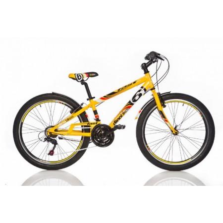 Dětské- chlapecké horské kolo 24, žluté