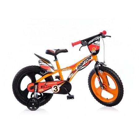 Dětské kolo Raptor 16 se stabilizačními kolečky, barevné
