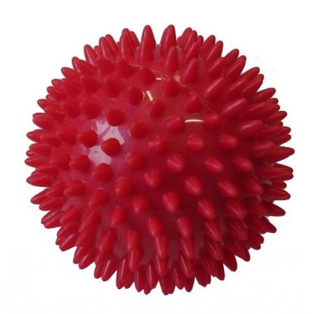 Masážní míček- ježek, 7,5 cm, červený