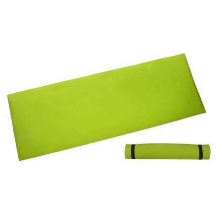 Pěnová podložka na cvičení 173 x 61 x 0,4 cm, žlutozelená