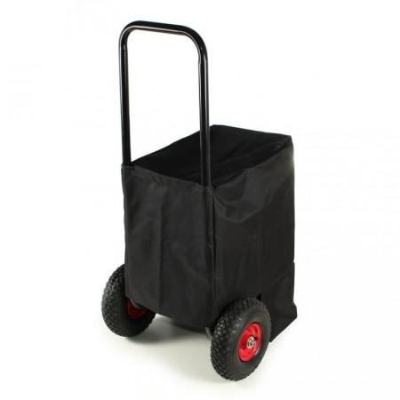 Vozík na dřevo s textilní plachtou, velká kolečka