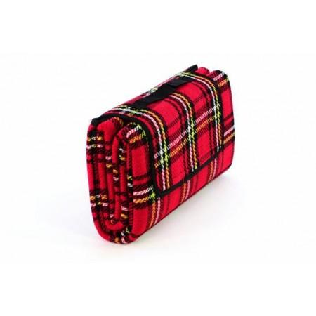 Venkovní deka- skládání na suchý zip, červená, 150x130 cm