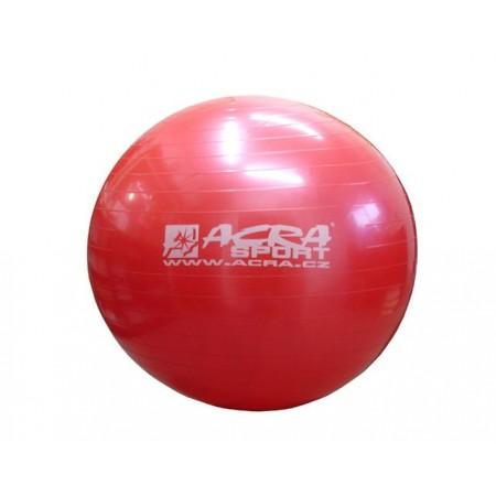 Velký nafukovací míč pro cvičení a rehabilitace 75 cm, červený