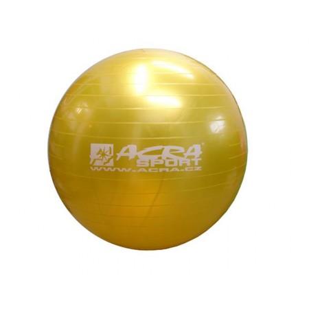 Velký nafukovací míč pro cvičení a rehabilitace 65 cm, žlutý