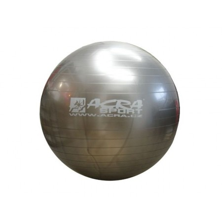 Velký nafukovací míč pro cvičení a rehabilitace 65 cm, stříbrný