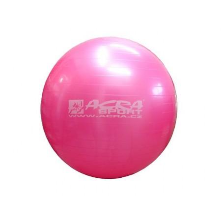 Velký nafukovací míč pro cvičení a rehabilitace 65 cm, růžový