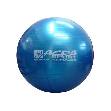 Velký nafukovací míč pro cvičení a rehabilitace 65 cm, modrý