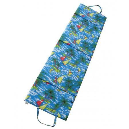 Skládací lehátko s uchy, 180x50x1,5 cm, modré