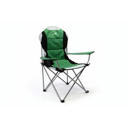 Skládací textilní židle s područkami, zelená / černá