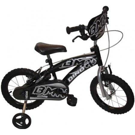 Dětské kolo BMX 14 s postranními kolečky, černé